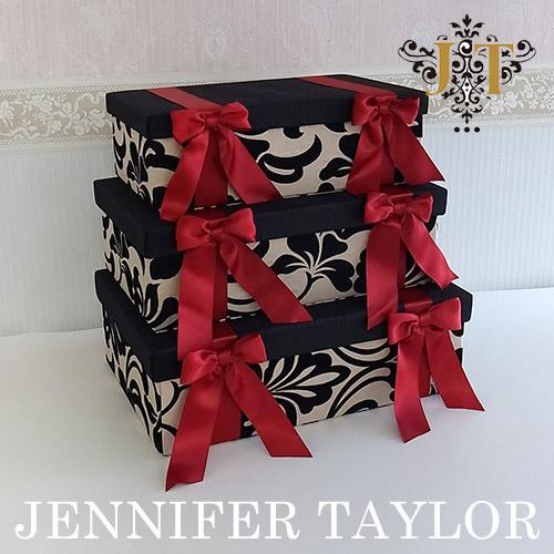 【送料無料】ジェニファーテイラー Jennifer Taylor BOX3Pセット・Yorke-Red