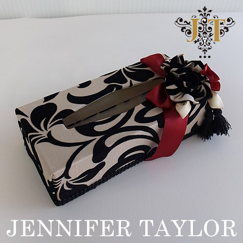 【P10倍 1/31 11:59まで】ジェニファーテイラー Jennifer Taylor ティッシュBOX・Yorke-Red
