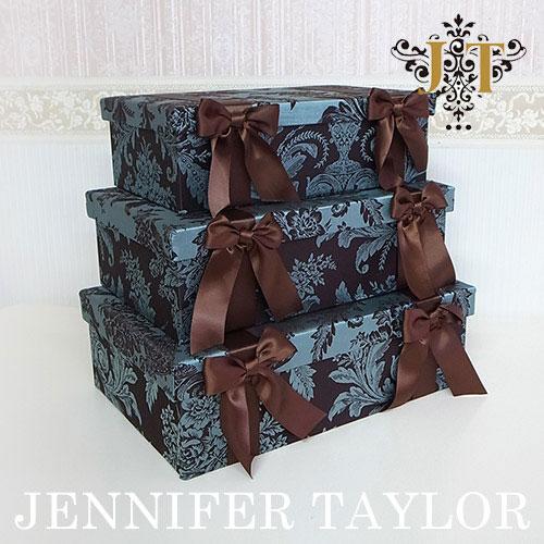 【P5倍】【送料無料】ジェニファーテイラー Jennifer Taylor BOX3Pセット・Carlisle-Ribbon