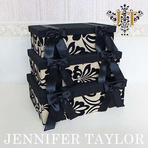 【P10倍 1/31 11:59まで】【送料無料】ジェニファーテイラー Jennifer Taylor リボンBOX3Pセット・Yorke