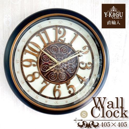 【送料無料】【Y-KAGU直輸入】ウォールクロック(壁時計) レトロネイビー(S)