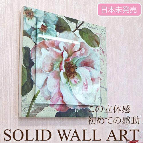 【Y-KAGU直輸入】【日本未発売】立体ウォールアート(S) 50×50 ピオニー・1輪