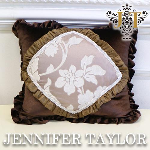 【ポイント10倍 9月】ジェニファーテイラー Jennifer Taylor フリルクッション・Haricotrouge-RS