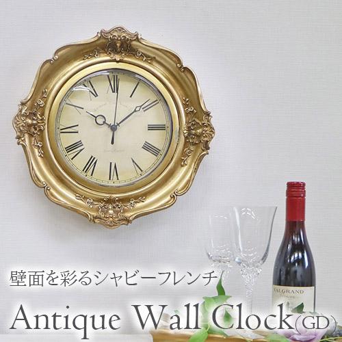 アンティークウォールクロック(壁時計) ゴールド