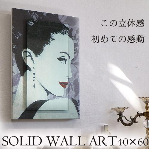 【Y-KAGU直輸入】【日本未発売】立体ウォールアート(M) 40×60 レデイ1