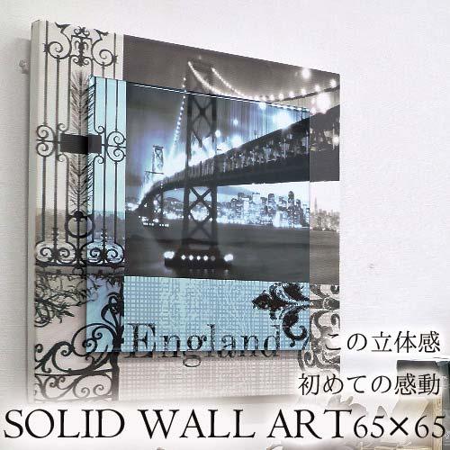 【Y-KAGU直輸入】【日本未発売】立体ウォールアート(L) 65×65 イングランド