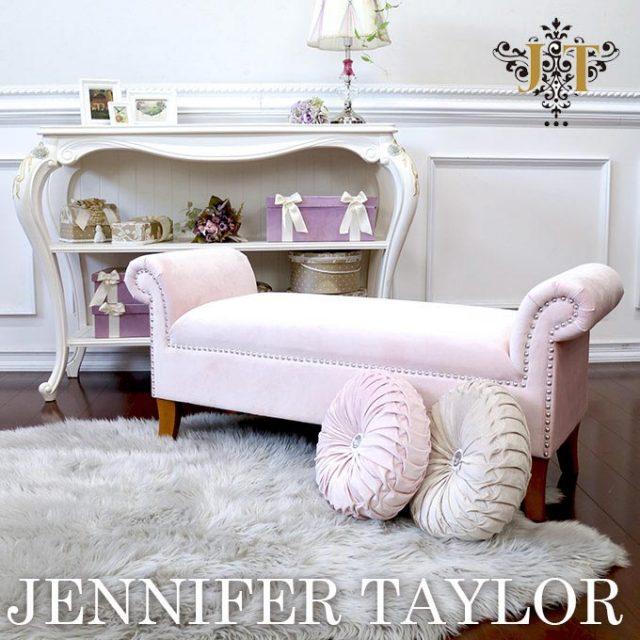 ジェニファーテイラー,ベンチ,家具,輸入家具,ピンク