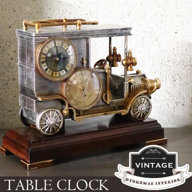 時計,置時計,温度計付き,インダストリアル,男前インテリア
