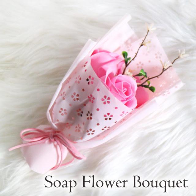 ソープフラワー,シャボンフラワー,石鹸フラワー,ローズ,ピンク,かわいい