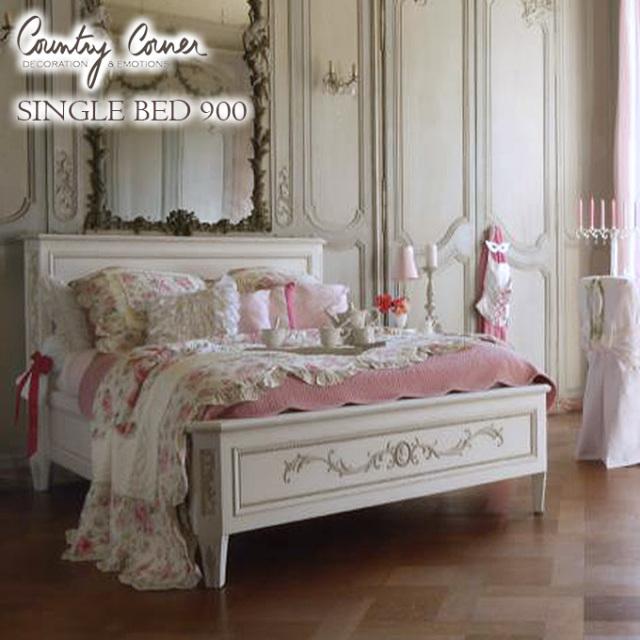 シングルベッド,ベッドフレームのみ,カントリーコーナー,白家具