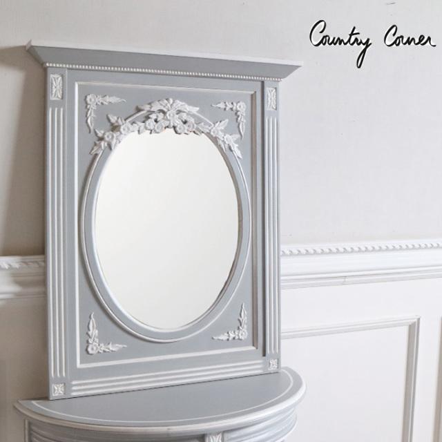 壁掛けミラー,壁掛け鏡,カントリーコーナー,フレンチ
