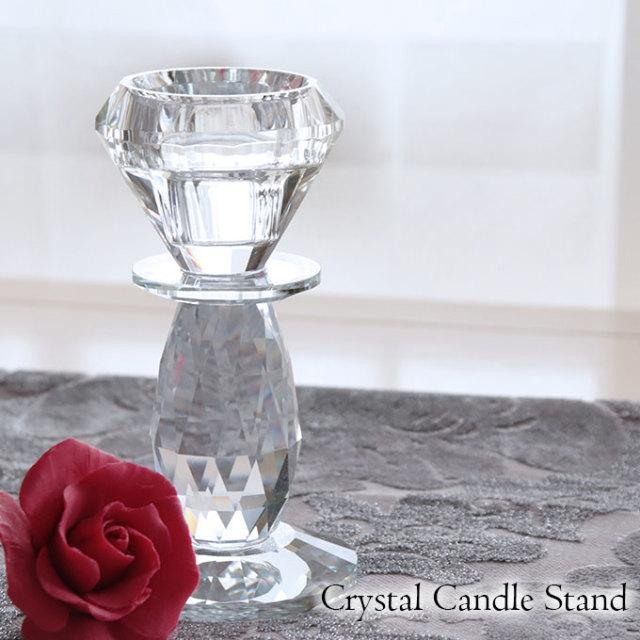 置物,キャンドルスタンド,燭台,1灯,クリスタル