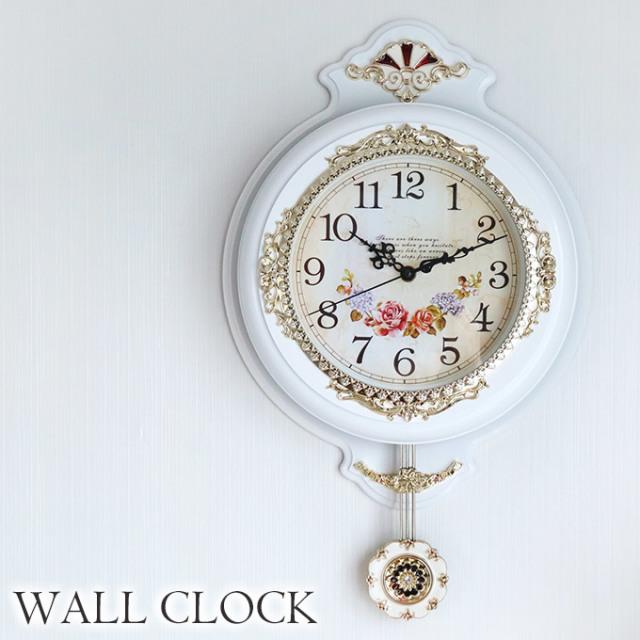 時計,振り子時計,壁掛け,ホワイト