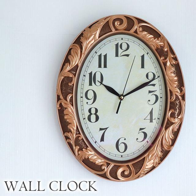 時計,壁掛け時計,ロココ,ブラウン
