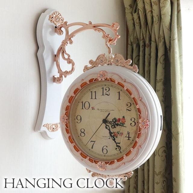 時計,両面時計,壁掛け,ホワイト