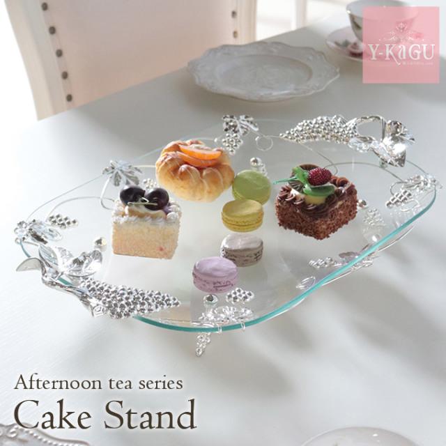 ケーキスタンド,食器,ガラスプレート,アフタヌーンティー