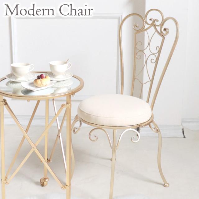 チェア,椅子,イス,おしゃれ,姫系,ロココ調,アイアン,ゴールド,カワイイ,可愛い,プリンセス家具,折りたたみ式