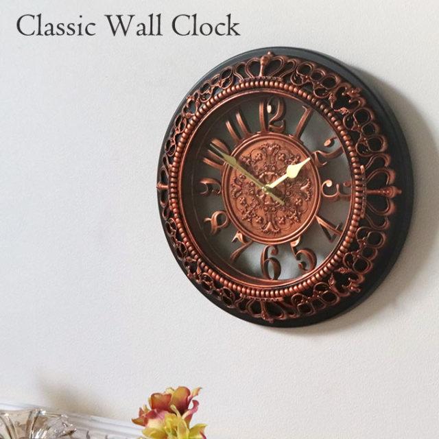 時計,壁掛け,ウォールクロック,ブラック,アンティークゴールド,おしゃれ,壁掛け時計,クラシック,アンティーク