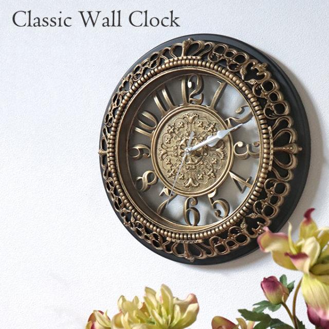 時計,壁掛け,ウォールクロック,ゴールド,おしゃれ,壁掛け時計,クラシック,アンティーク