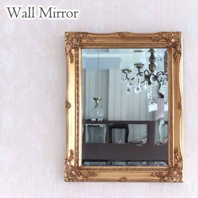 ミラー,鏡,角型,壁掛け,ウォールミラー,おしゃれ,ロココ,アンティーク,ゴールド