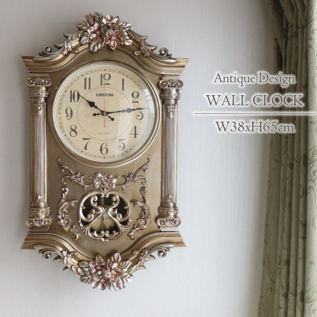 壁掛け時計,ロココ,アンティーク,大型