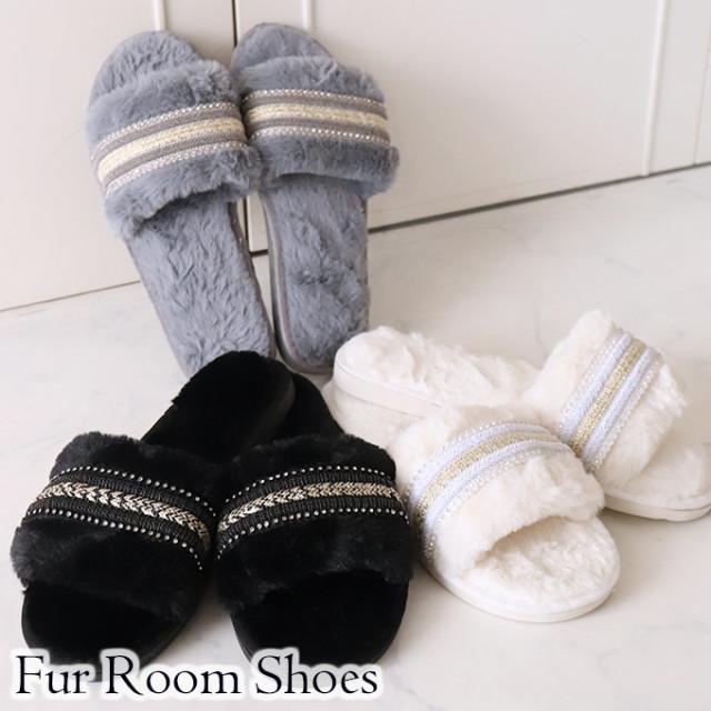 スリッパ,おしゃれ,暖かい,室内,ルームシューズ,スリッパ,かわいい,姫系,可愛い,冬用,ファー,ツイード調,リボン