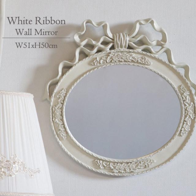 鏡,ミラー,ウォールミラー,アンティーク,ホワイト