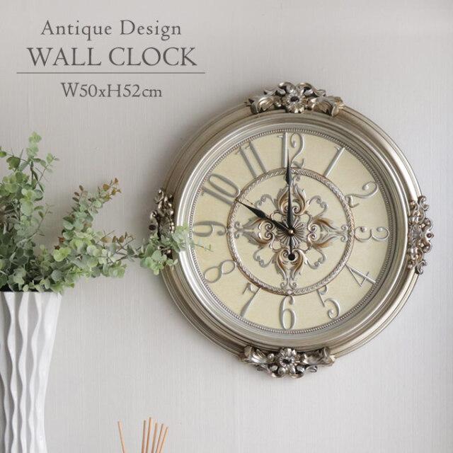 壁掛け時計,時計,ウォールクロック,ロココ,アンティーク調,サイレント,ローマ