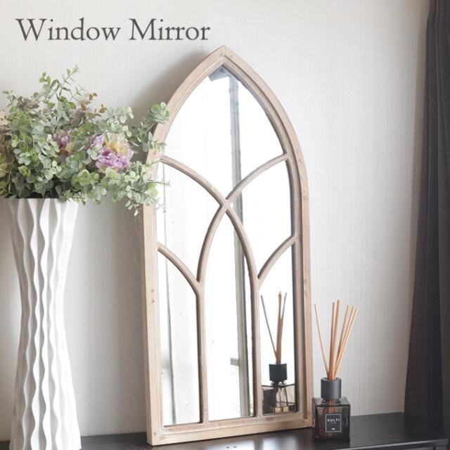 鏡,ミラー,壁掛け,ウォールミラー,窓,窓型,フレーム,ウィンドウミラー,ウッド
