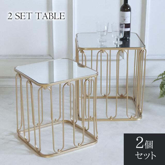 サイドテーブル,ミラー,スクエアテーブル,四角,飾り棚,