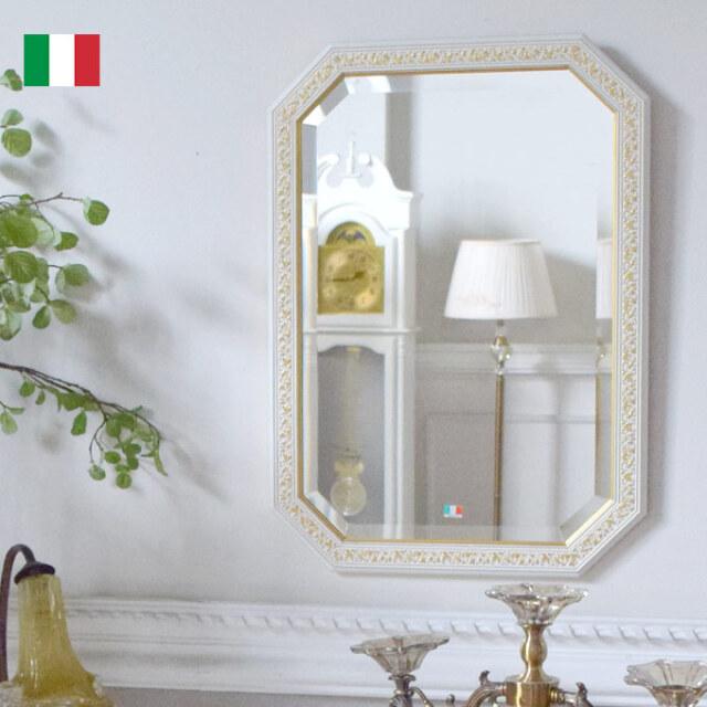 ミラー,壁掛け鏡,イタリア製,ホワイト,風水