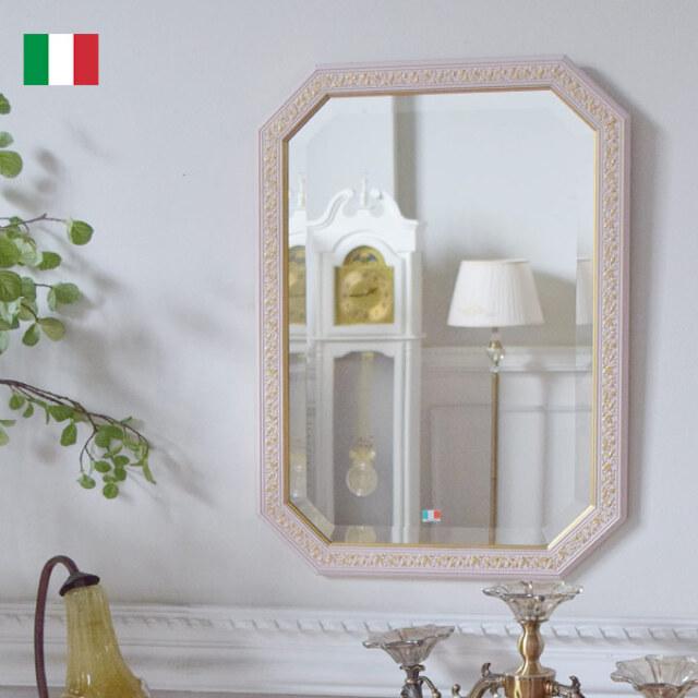 ミラー,壁掛け鏡,イタリア製,ピンク,風水