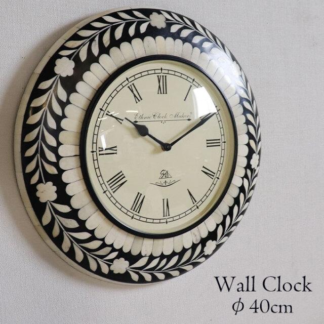 壁掛け時計,ウォールクロック,時計,おしゃれ,水牛,象嵌