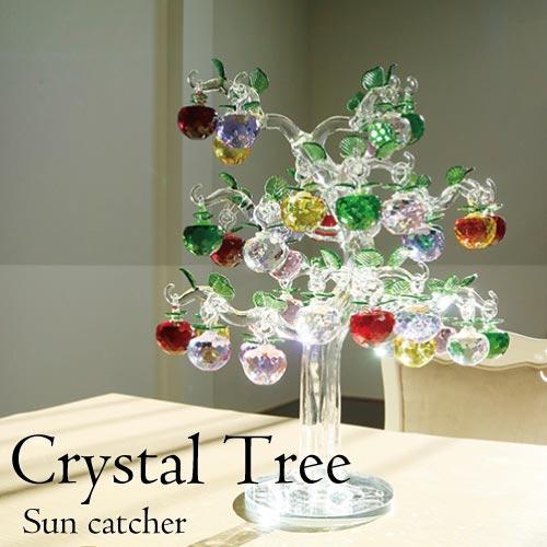 【送料無料】カラフルクリスタルツリー・アップル(サンキャッチャー)