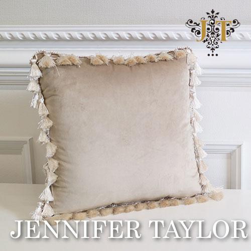 【ポイント10倍 12月】ジェニファーテイラー Jennifer Taylor クッション-Velours-BE