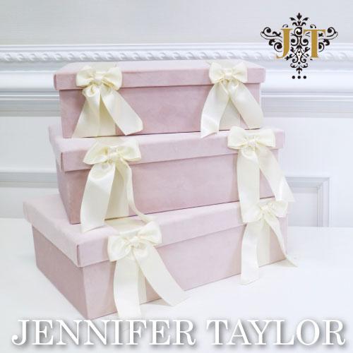 【ポイント10倍 9月】ジェニファーテイラー Jennifer Taylor BOX3Pセット-Velours-PK