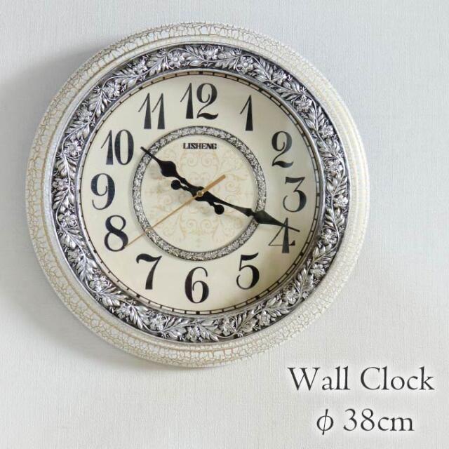 掛け時計,クロック,Φ38cm,アンティーク風