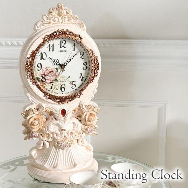 置き時計,置時計,クロック,ロココ,フラワー