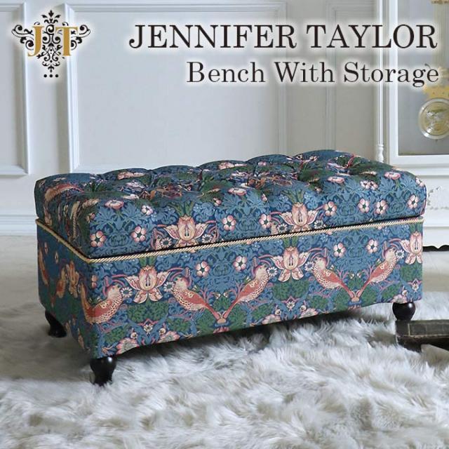 ジェニファーテイラー,収納付きベンチ,イチゴ泥棒