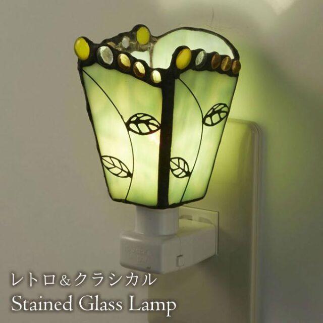フットランプ,ステンドガラス,LED,フリージアII