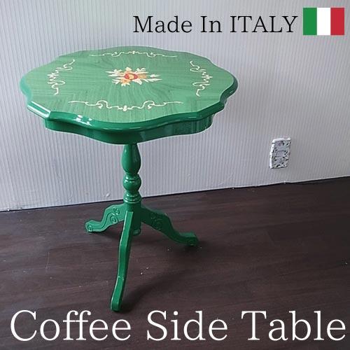 【送料無料】 イタリア製:象嵌テーブル(グリーン)