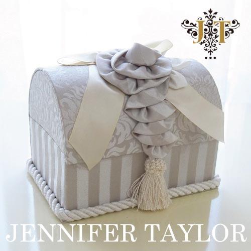 【12月限定 P10倍】ジェニファーテイラー Jennifer Taylor トランク型ボックス・Haruno-Gray