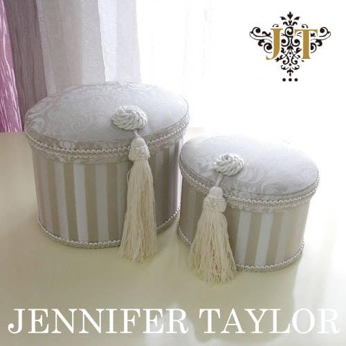 【送料無料】ジェニファーテイラー Jennifer Taylor オーバルBOX2P・Haruno-Gray