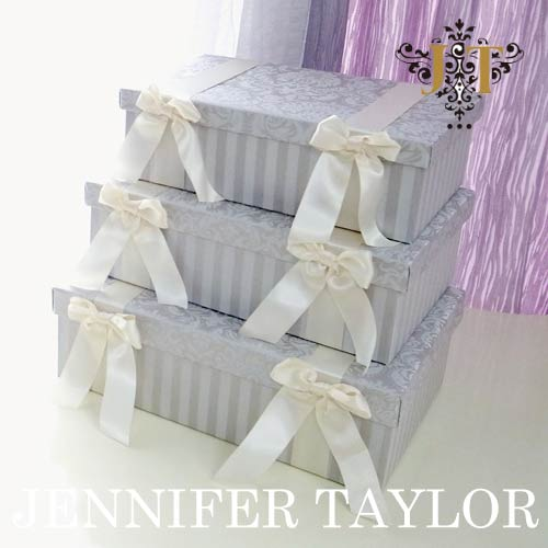 【2020.12月入荷予定 予約販売承り中】【送料無料】ジェニファーテイラー Jennifer Taylor BOX3Pセット・Haruno-Gray