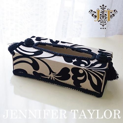 【P10倍 1/31 11:59まで】ジェニファーテイラー Jennifer Taylor ティッシュBOX・カルトナージュ(Yorke)