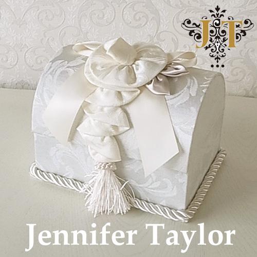 【ポイント10倍 9月】ジェニファーテイラー Jennifer Taylor トランク型ボックス・Florence(WH)