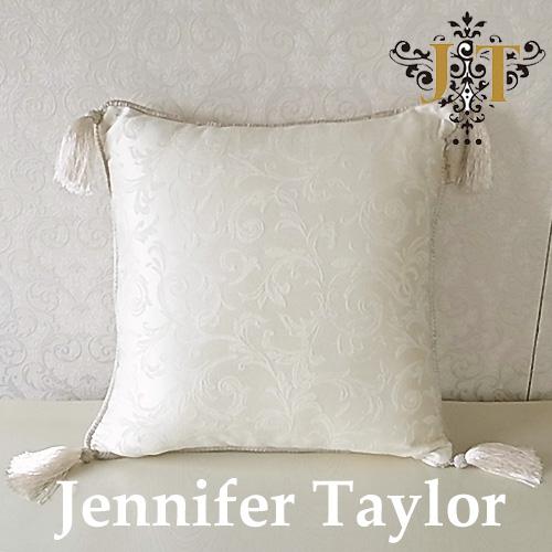 【ポイント10倍 12月】ジェニファーテイラー Jennifer Taylorクッション・Florence(WH)