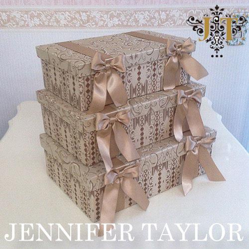 【ポイント10倍 8月】【送料無料】ジェニファーテイラー Jennifer Taylor BOX3Pセット・Poinsettia-BE