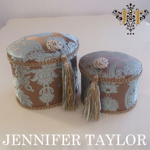 【P10倍 1/31 11:59まで】ジェニファーテイラー Jennifer Taylor オーバルBOX2P・Hermosa-mint