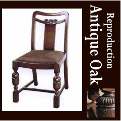 【P5倍】【送料無料】Antique Oak Collection ダイニングチェア(プリンス)
